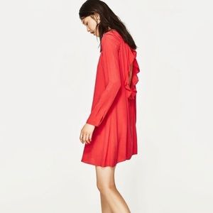 Zara ruffle back dress